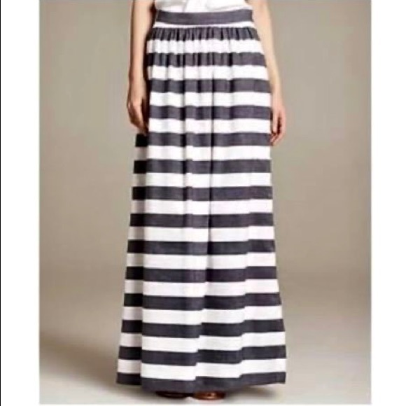 Banana Republic Striped Patio Maxi Skirt Sz 8